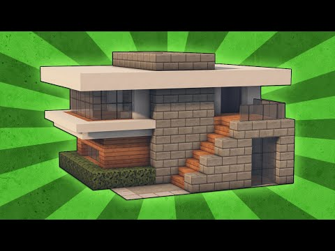 Minecraft: How To Build A Small Modern House Tutorial (#4)