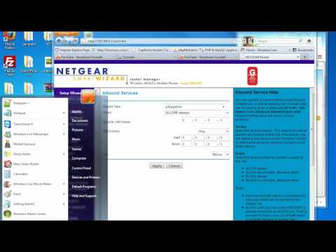 Netgear - Port forward or Block Ports Tutorial