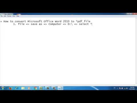 how to convert microsoft office word 2010 to pdf file