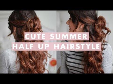Cute Summer Half Up, Half Down Hairstyle
