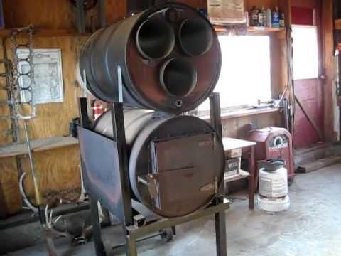 2 barrel wood stove