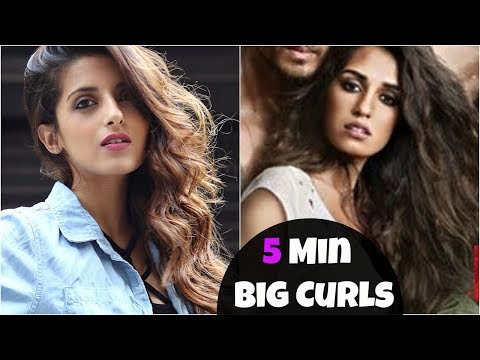 How To Get BIG VOLUMIZED Curls & Hair | Disha Patani Look | Baaghi 2 | Knot Me Pretty