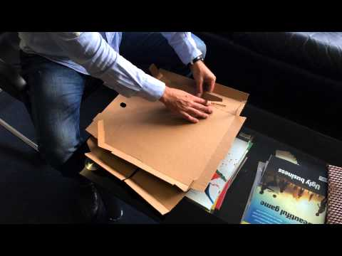 Pizza box turning into plate and small box by Tk