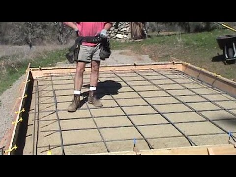 Rebar grid for concrete slab