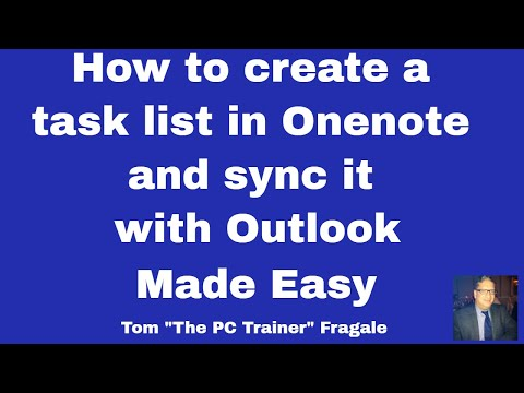 How to make a task list in  OneNote and sync it with Outlook