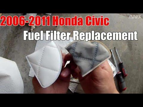 8thgen Honda Civic Fuel Filter Strainer Replacement DIY