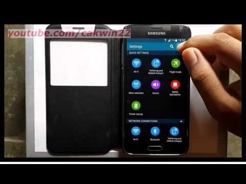 Samsung Galaxy S5 : How change view setting menu (Android Phone)