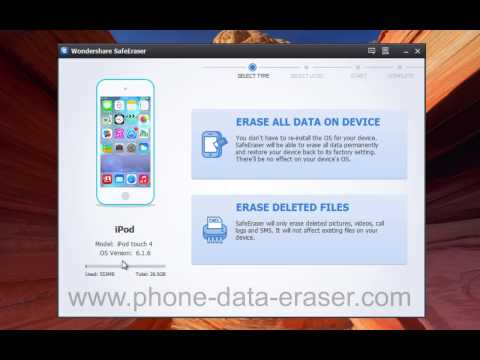 SafeEraser: How to Remove, Erase, Delete All iPod Data Permanently & Completely?