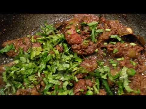 how to make chicken heart Indian recipe bhaji Bengali style