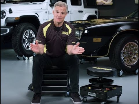 JEGS Mechanic Roller Seat Tool Box Stool Drawers Tray Kenny Wallace Garage Gear Shop Tools Storage