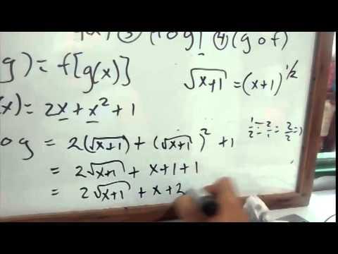 Algebra de Funciones - (fog),(gof),f(x)+g(x),f(x)-g(x)