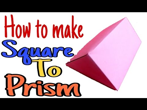 How to make Square to Prism in Telugu | Maths with Paper Folding