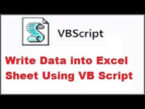 25 VBScript-Write Data into excel file it using VB Script in UFT    Vicky Raj