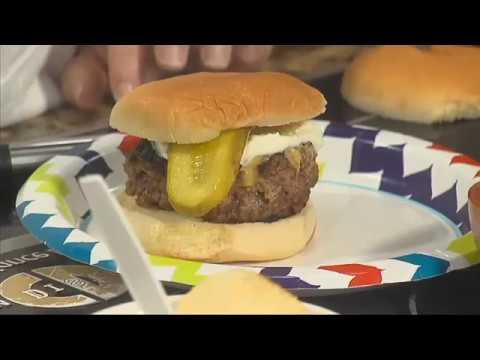 Double Dip Stuffed Burgers