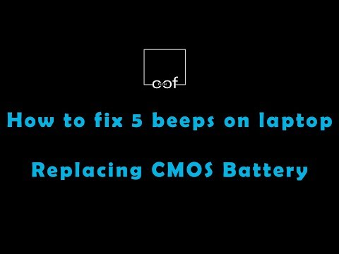 How to solve continuous beep on DELL laptop | How to replace laptop CMOS battery