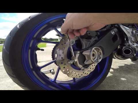 FZ-07 Chain Slack, How to Tighten Chain, Yamaha MT07/FZ07 Chain Slack