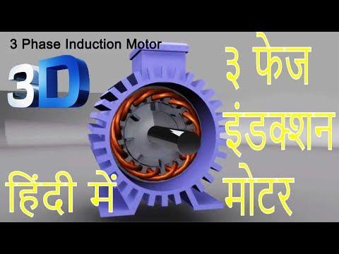 3 Phase Induction Motor in Hindi (३ फेज इंडक्शन मोटर)