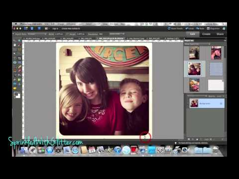 Project Life 3x4 Photos Photoshop Elements How To--Printing Instagram Photos