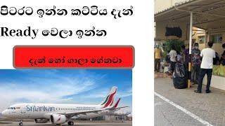 පිටරට ඉන්න කට්ටිය දැන් Ready වෙලා ඉන්න -Over 400 arrive today on special repatriation flights