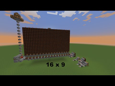 How Make a Minecraft Redstone Lamp Screen & Control Every Pixel Any Size