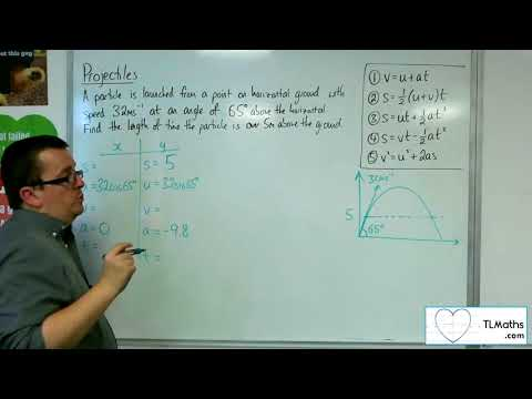 A-Level Maths 2017 Q5-06 Projectiles: From the Ground Example 3 SUVAT Method