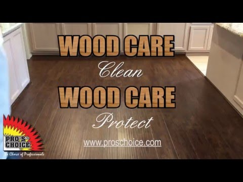 WoodCare Clean and Protect demo video