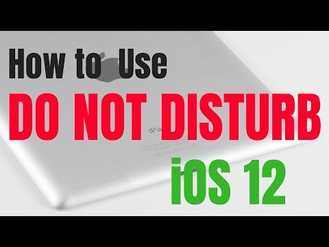 How to Use Do Not Disturb in iOS 12 on an iPad