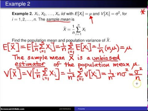 Multivariate distributions:  Variance of a sum of random variables -- Example 2