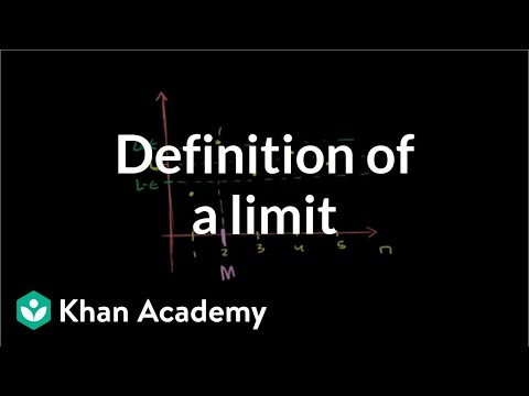 Formal definition for limit of a sequence | Series | AP Calculus BC | Khan Academy