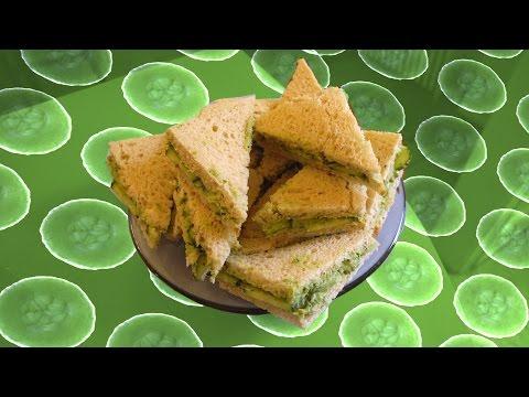Cucumber + Avocado Tea Sandwiches