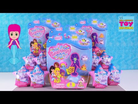Splashlings Color Change Wave 2 Blind Bag Toys Shell Opening Toy Review | PSToyReviews