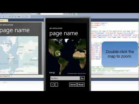 Maps in your Apps - Windows Phone 7 Programming Mobile and Cell Software Tutorial Part 1
