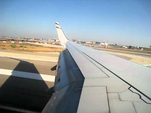Landing at Ben-Gurion airport, Tel-Aviv, Israel