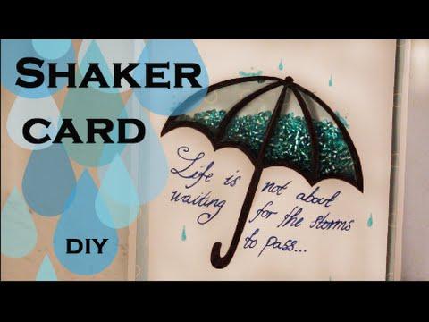 Shaker card - easy to make - 100% handmade