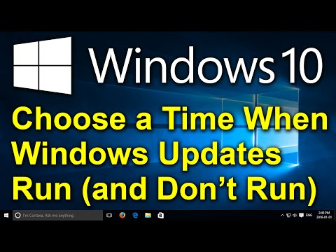 Windows 10 - Reshedule Automatic Updates - Set a Time When Updates Run