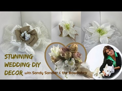 Stunning Theme Wedding Chair Bow, Bouquet, Corsage, Bow Tie with Bowdabra