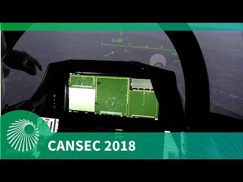 CANSEC 2018: Saab test pilot shows the benefits of the Gripen E's Wide Area Display