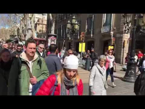Las Ramblas Street Barcelona Spain