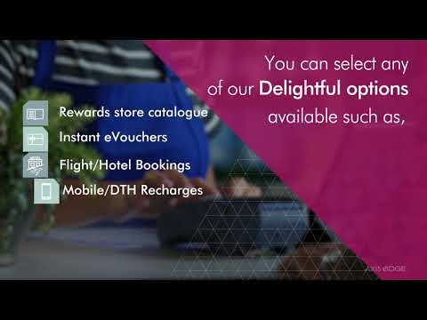 Axis eDGE Rewards - Various channels to redeem your points