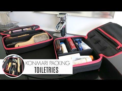 KonMari Organization   Packing Toiletries Using the ORGO