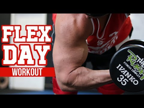 MASS Building Workout for Biceps & Triceps - FLEX Day!