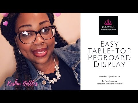DIY table-top Pegboard Display for Paparazzi Accessories