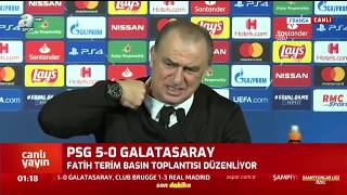PSG 5 - 0 Galatasaray  Fatih Terim Maç Sonu Basın Toplantısı Düzenledi / A Spor