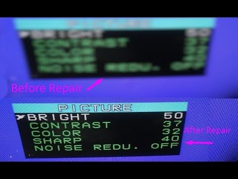 How To Repair Blurry  Display Of CRT Television - Very Useful