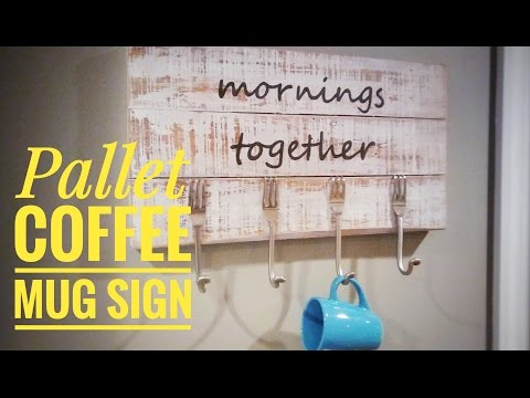 How To Make a Pallet Sign with Silverware Hooks for a Kitchen - OurHouse DIY