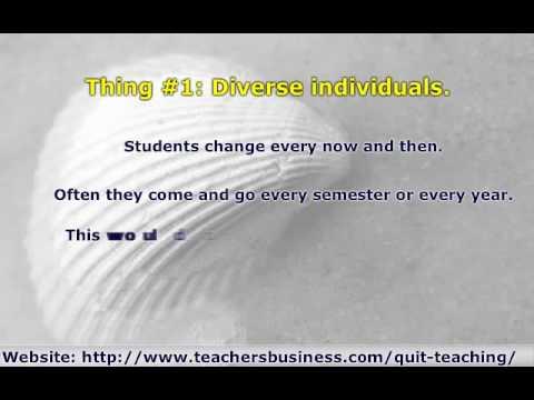 Resign From Teaching