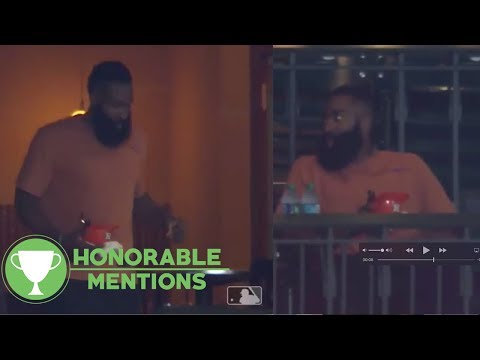 Lonely James Harden Hangs Out By Himself At Baseball Games! | Honorable Mentions