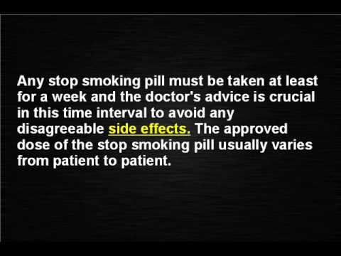 Stop Smoking Pills: What you should know