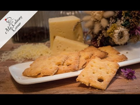Cheese Crackers With Sesame