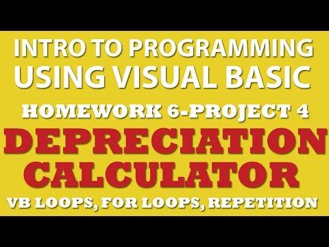 6-pp4 VB.net: Depreciation Calculator (using For Loops)
